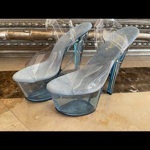Baby Blue Pleaser Heels Size 7